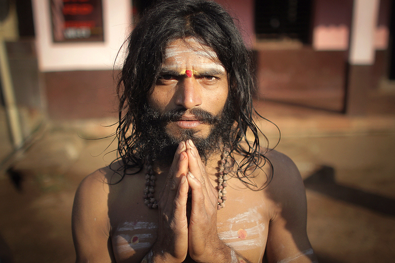 ayyappa pilgrim, south india. twenty eleven