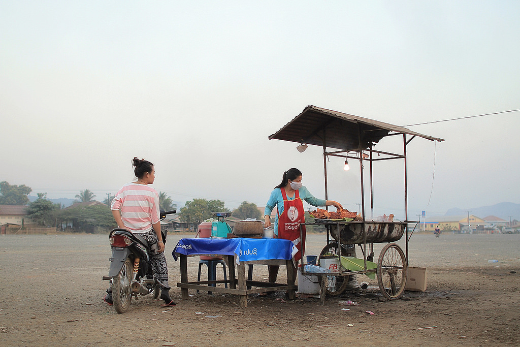 food stall, northern laos. twenty fourteen