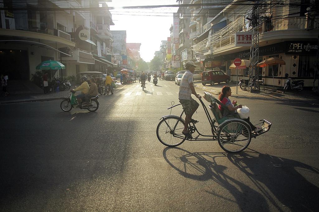 tuk tuk ride, phnom penh, cambodia. twenty fourteen