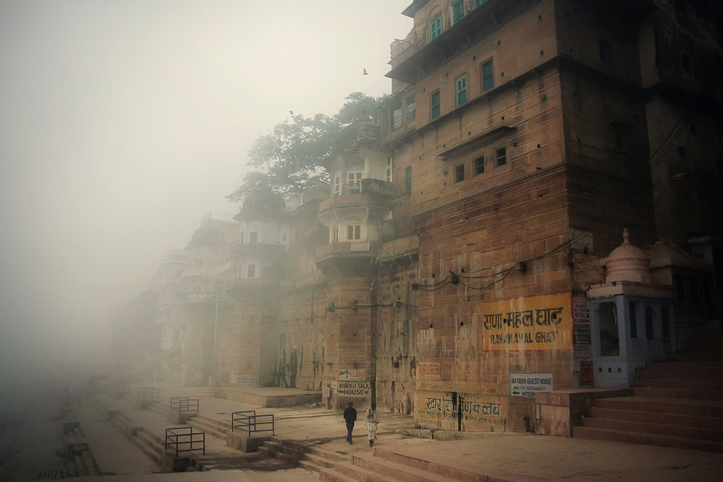 winter morning, varanasi, india. twenty eleven