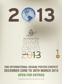 second international reggae poster contest twenty thirteen