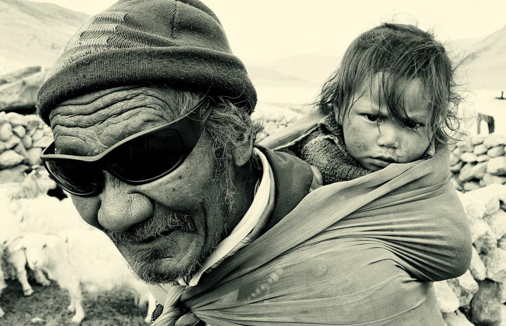 nomadic people in changtang, ladakh - dietmar temps